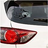 Pegatina decorativa para coche, diseño de jabalí, para coche, accesorios, cabeza, jabalí, caza, caza, caza, caza, coche (negro, pequeño set K138 K137)