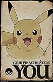 Trends International Pokemon Needs You Wall Poster 22.375' X 34'