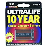Ultralife Batteries, Inc Long-life 9v Lithium Battery Smoke Detector / Blister Pack
