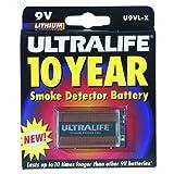 Ultralife Batteries, Inc Long-life 9v Lithium Battery Smoke Detector / Blister Pack