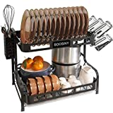Kitchen Dish Rack, Boosiny 2 Tier Stainless Steel Large Dish Drying Rack with...