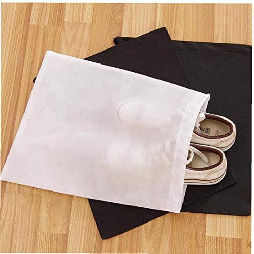 Amoyer 12pcs Non-tissé Chaussures De Rangement Voyage-antipoussière Chaussures De Démarrage De Stockage Cordonnet Sacs Organisateur Carry Case