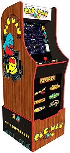 Arcade1Up Pac Man 40th Edition Home Arcade Machine 7 Games In 1 4 Foot Cabinet with 1 Foot Riser product image