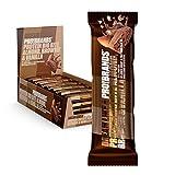 Probrands - barrita proteica con cobertura de chocolate con leche sabor almendra-brownie-vainilla 45g x 24PCS
