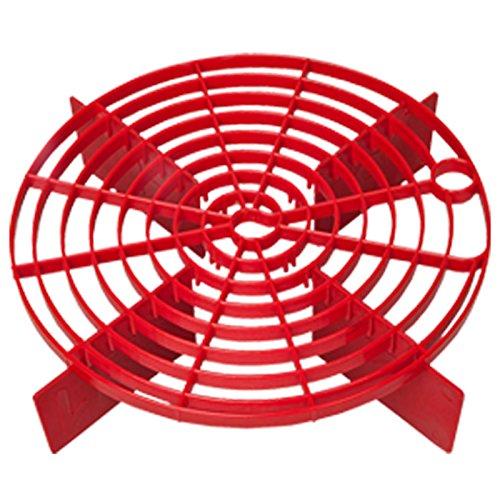 Rascador rojo – Sistema de cubo de lavado / método – Grit Guard, Bucket Barrier