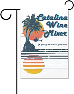 Catalina Wine Mixer Double Sided Polyester Garden Flag 12 X 18 Inches, Winter Holiday Decorative Flag for Party Yard Home Decor
