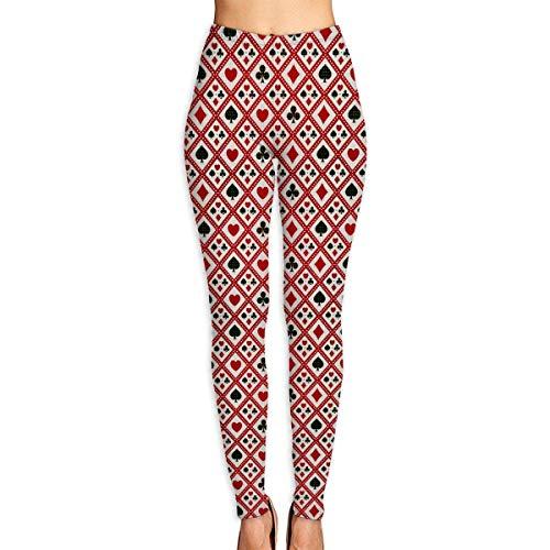 Flyup Pantaloni donna leggings da yoga con diamanti e picche Pantaloni da allenamento per fitness a vita alta