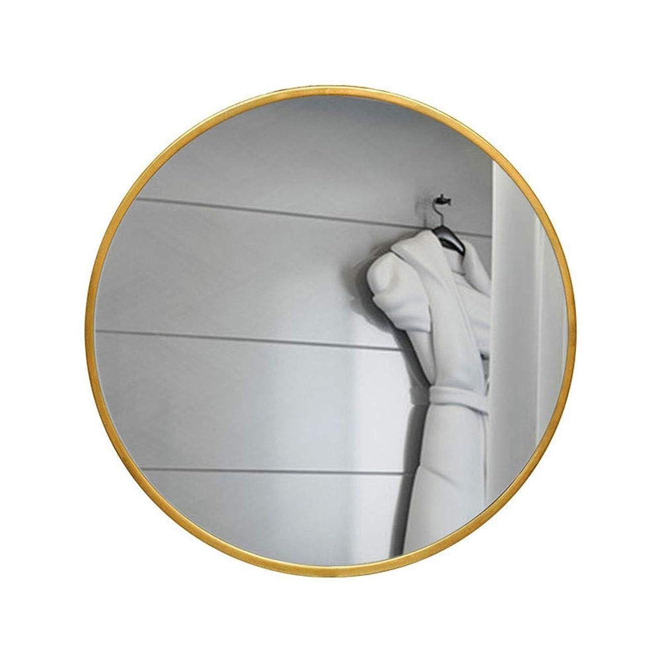バージン貫通膜錬鉄製のバスルームのミラーバスルームの虚栄心の壁に取り付けられた虚栄心のホテルホテルの寝室の装飾ラウンドフィッティングミラー