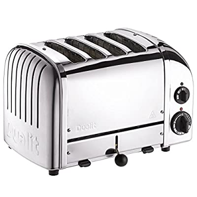 Dualit E.A.N. 619743403780 4 Slice Vario AWS Toaster Polished Stainless Steel 40378, Silver