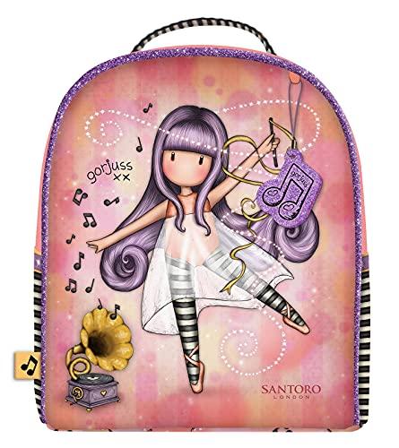 SANTORO Mini Mochila Gorjuss Little Dancer, 200x220x100 mm, Salmón