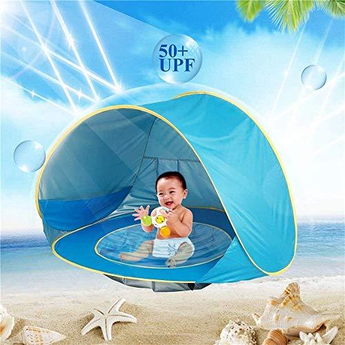 JACKWS Intéressant Enfants Tente Tente for Enfants OceanSun Protection Piscine Plage Château de Hutte Toy House en Plein air for Enfants Tipi Filles et garçons (Color : Blue)