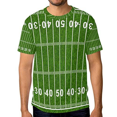 MONTOJ Grand American Football Field Essentials Camiseta de Manga Corta para Hombre, Secado rápido 1 L