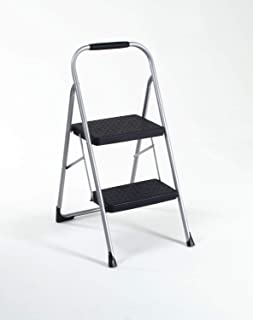 Cosco Two Step Big Step Folding Step Stool with Rubber Hand Grip
