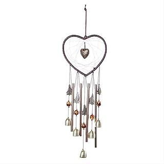 ZGPTX Love Shape Wind Chimes Tube Bell Windchimes Home Garden Decor Hanging Bell Ornaments Dreamcatcher Craft Gifts