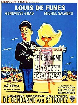 15x21cm Le Gendarme de Saint-Tropez PLAQUE METAL AFFICHE CINEMA