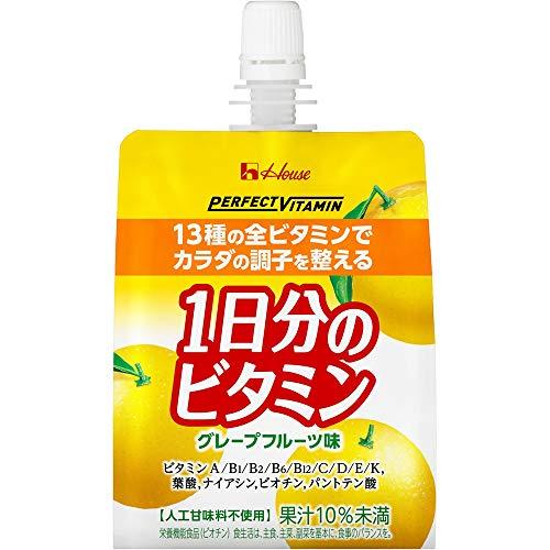 [Amazon限定ブランド] ハウスウェルネスフーズ PERFECT VITAMIN 1日分のビタミンゼリー グレープフルーツ味...
