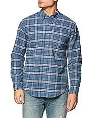 [Amazon Essentials] レギュラーフィット 長袖 ポケット付き オックスフォードシャツ メンズ