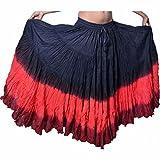 Dancers World - Falda de algodón para Mujer Gypsy de 25 Yardas Multicolor Black Red Maroon One Size UK 10-24 - Length 36/37inch Approx