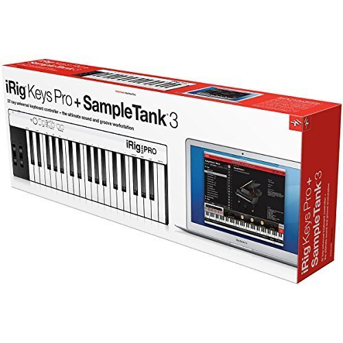 IK Multimedia 03-90051 Bundle iRig Keys Pro Sampletank 3 Digital Piano