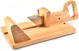 Staright Saucisse-trancheuse Saucisse en bois coupée en bois de chêne coupeur manuel push-pull coupe de jambon