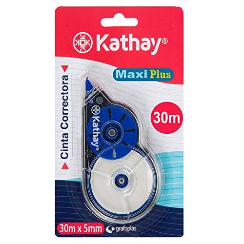Kathay 86028999 Korrekturband Maxi Plus, 5 mm x 30 m, zufällige Farben: grün und blau, schnell trocknend