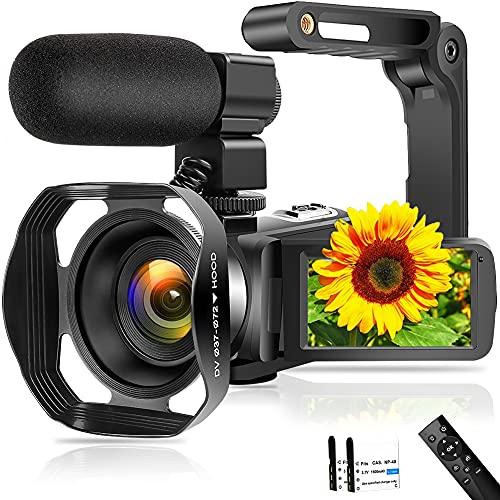 Videokamera 4K 48MP Camcorder mit WiFi...