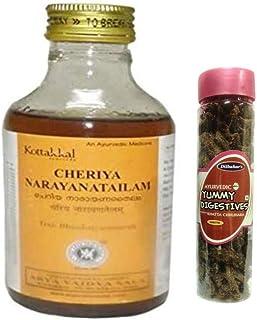 Kottakkal Arya Vaidya Sala Cheriya Narayana Tailam 200ml, With Free Dilbahars Yummy Digestives Khatta Mitha Chhuhara 90gm