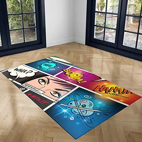 Oedim Alfombra Comic PVC 95 cm x 165 cm| Moqueta Adulto PVC | Suelo vinilico para Adultos