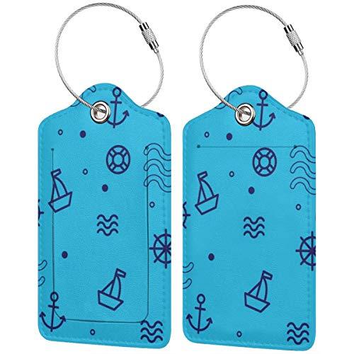Free Nautica Pattern Gepäckanhänger, Koffer, Handgepäckhalter mit verstellbaren Riemen für...