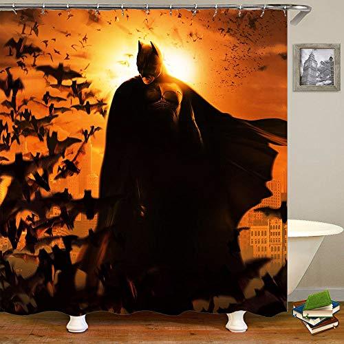 Aliyz Abenddämmerung Batman Home Hotel Badezimmer Dekoration Wasserdicht Mehltaue Umweltfreundliche Pflege Duschvorhang Vorhang Polyestergewebe 71x71 Zoll