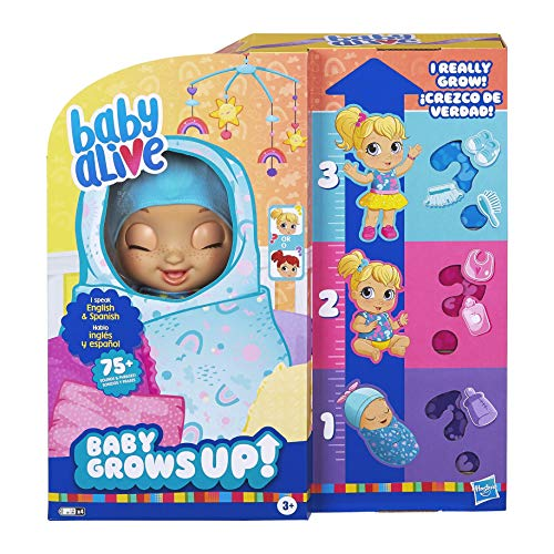 Baby Alive Baby Grows Up (Happy) – Happy Hope or Merry Meadow, Growing and Talking Baby Doll Toy with...
