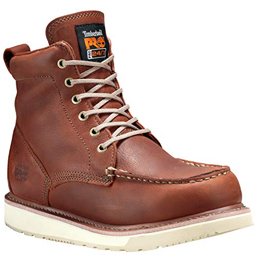 "Timberland PRO Men's 53009 Wedge Sole 6"" Soft-Toe Boot,Rust,11 M"