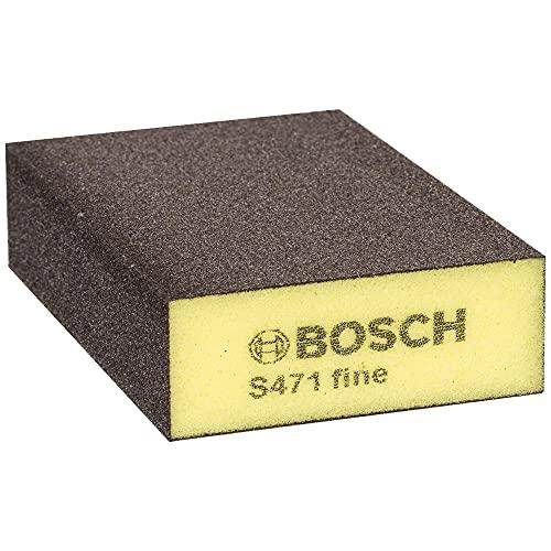 Bosch Professional 2608608226 Esponja Abrasiva Fino, Amarillo, Marron, 68 x 97 x 27 mm