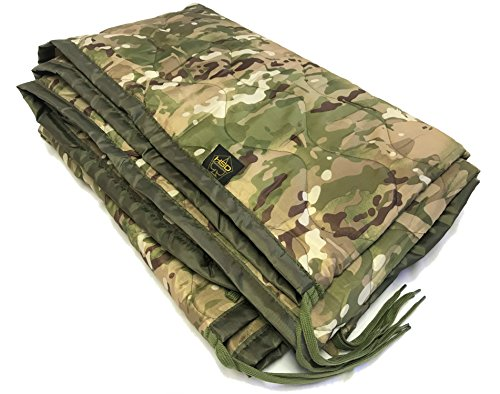 HighSpeedDaddy Poncho Liner Woobie Military Style Lightweight Blanket OCP Camo (Multicam, Adult)