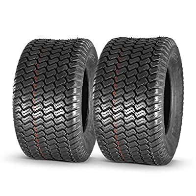 MaxAuto 2Pcs 20x10-10 20x10.00-10 Turf Tires for Lawn & Garden Mower 4 Ply