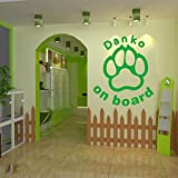 Pegatina de vinilo para pared con diseño de perro, papel tapiz para pared, póster, mural desmontable, calcomanía para coche, vidrio, tienda de mascotas, decoración de la casa, papel tapiz A8 20x22cm