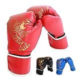 Eachbid Guantes de Boxeo para niños,Guantes de Boxeo Unisex,Juego de 2 Unidades, Gloves Guantes para Entrenamiento de Boxeo, Kickboxing, Sparring, Muay Thai y Heavy Bag (Rojo, S - niños)