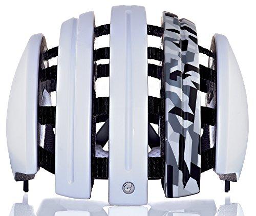 Carrera Fahrradhelm Foldable GTE Unisex White mat camo 55-58