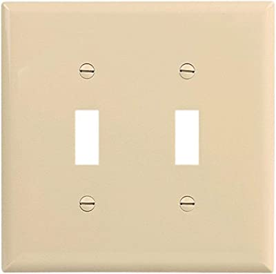 Leviton 88109 2 Gang Toggle Device Switch Wallplate Oversized Thermoset Device Mount White Switch Plates Amazon Com