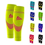 ACTIVE COMPRESSION Calf Sleeves - Extra Strong (gelb/pink, M)