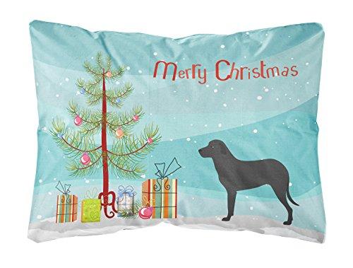 Carolines Treasures BB8508PW1216 Majorca Hirtenhund Leinenstoff Dekokissen, Weihnachtsbaum