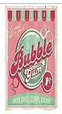 Yeuss 50er Stall-Duschvorhang, Kaugummi-Kaugummi-köstlicher Süßigkeits-Lutscher süßer Zucker annoncieren Plakat-Art-Grafik