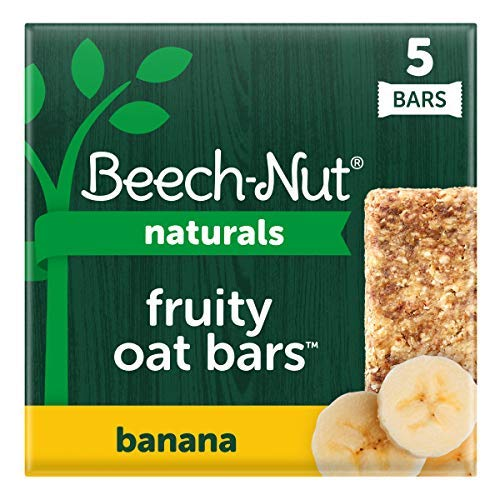Beech-Nut Naturals Fruity Oat Bars, Stage 4, Banana, 5 Simple Ingredients (Pack of 6 boxes, 5 count each)