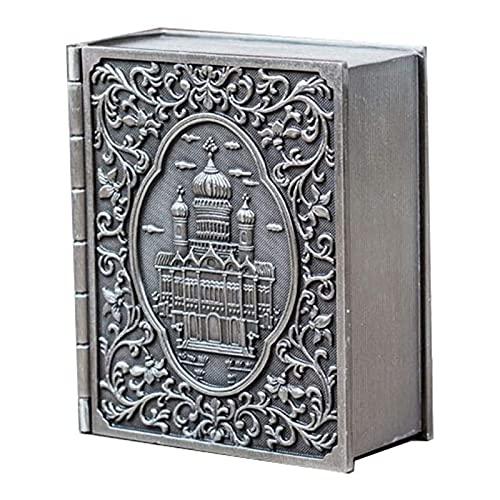 TYUIOO Caja de joyería de Metal de baratijas pequeñas Vintage  Caja de Organizador de Recuerdo Antiguo para Anillos, Pendientes, Collar, Tesoro, Pulsera  Gran Regalo para niñas y Mujeres (Plata)