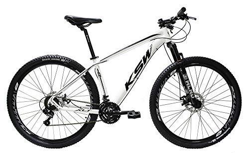 Bicicleta Aro 29 Ksw Shimano Acera 24v F. Hidráulico C/trava (Branco/Preto, 19)