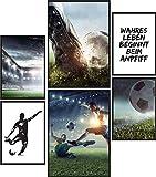 Papierschmiede® Mood-Poster Set Fußball | Bilder als