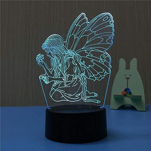 Angel Christmas gift 3d lamp Novelty Led Led Night Light 7 color change Usb Led 3d Light Kids Lamp