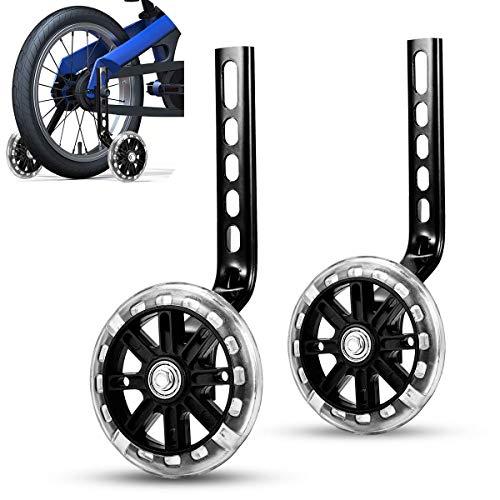 izosen Bicycle Training Wheels Kids Bike Stabilizers Support Wheels for 12 14 16 18 20 Inch Bike