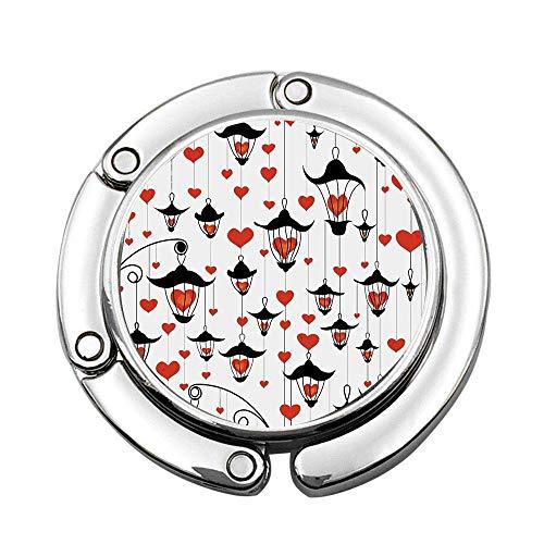 Linternas y corazón para el día de San Valentín Lámpara pequeña Decorativa Clásica Antigua Personalizada Mesa de suspensión portátil para Bolsos