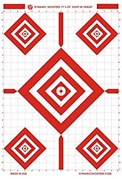 Dynamic Shooters 17x25 Inch Sight in Paper Shooting Range Targets-  50 Pack  for Firearms Guns Rifle Pistol BB Guns Airsoft Pellet Gun Air Rifle